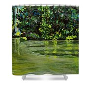 Impressions Of Ooty Lake 1 Shower Curtain