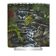 In A Country Garden Shower Curtain
