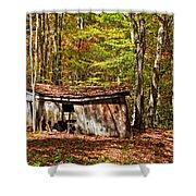 In Autumn Woods Shower Curtain by Steve Harrington