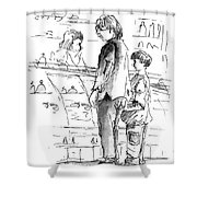 In Cafe Capuccino 01 Shower Curtain