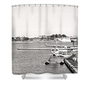 In Plane Sight Shower Curtain