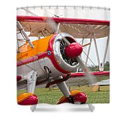 In Plane View Shower Curtain