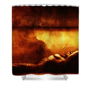 In Quiet Place  Shower Curtain