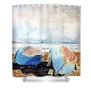 In Secca Sulla Spiaggia Shower Curtain