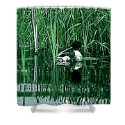 in the Bulrushes Shower Curtain