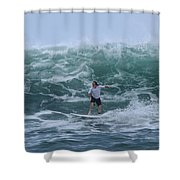In The Center Of The Swell Shower Curtain