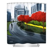 In The City 2 Shower Curtain