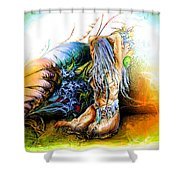 In The Garden Shower Curtain by Adam Vance
