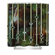 In The Garden Green Shower Curtain