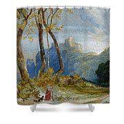In The Hills Shower Curtain