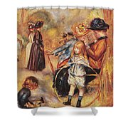 In The Luxembourg Gardens Shower Curtain by Pierre Auguste Renoir
