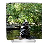 In The Midst Of The Golden Pond Shower Curtain