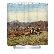 In The New Forest Shower Curtain by Heywood Hardy