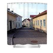 In The Old Town With New Possibilities Shower Curtain