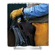 In The Saddle Again Shower Curtain