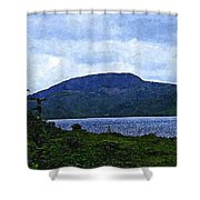 In The Shelter Of The Blue Cliff 2 Shower Curtain