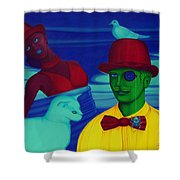 In The Theatre Of Time Shower Curtain