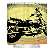 In The Vortex - Harley Davidson Shower Curtain