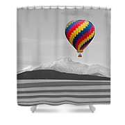In Their Own World Colorado Ballooning Shower Curtain