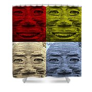 In Your Face In Colors Shower Curtain