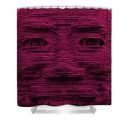 In Your Face In Hot Pink Shower Curtain