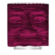 In Your Face In Negative  Hot Pink Shower Curtain