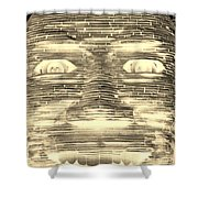 In Your Face In Negative Sepia Shower Curtain