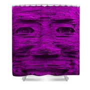 In Your Face In Purple Shower Curtain