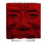In Your Face In Red Shower Curtain