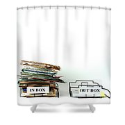 Inbox And Outbox Shower Curtain