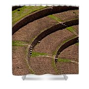 Inca Crop Terraces At Moray Shower Curtain