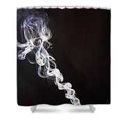 Incense Smoke Rising, New Zealand Shower Curtain