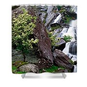 Inchquinn Waterfall, Beara Peninsula Shower Curtain