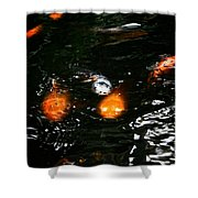 Incoming Koi Missiles Shower Curtain