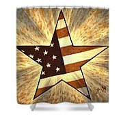 Independence Day Stary American Flag Shower Curtain