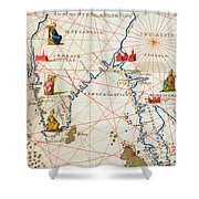 India And Malaysia Shower Curtain by Battista Agnese