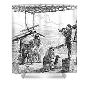 India Eclipse Expedition, 1872 Shower Curtain by Science Source