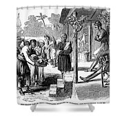 India: New Years Day, 1859 Shower Curtain