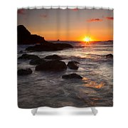Indian Beach Sundown Shower Curtain