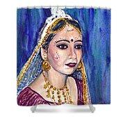 Indian Bride  Shower Curtain