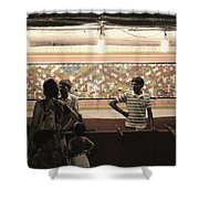 Indian Carnival Balloon Shooting Shower Curtain