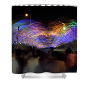 Indian Carnival Colorful Swing Shower Curtain