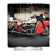 Indian Chief Motorcycle Rare Shower Curtain