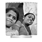 Indian Girls Shower Curtain