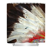 Native American War Bonnet Shower Curtain