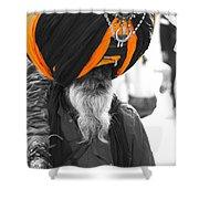 Indian Man Wearing Turban Shower Curtain