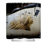 Indian Motocycle Gas Tank Shower Curtain