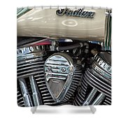 Indian Motorcycle Engine Shower Curtain