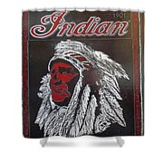 Indian Motorcycles Shower Curtain