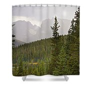 Indian Peaks Colorado Rocky Mountain Rainy View Shower Curtain